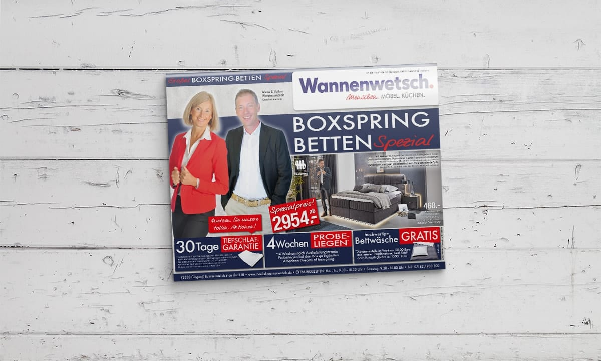 14888 18 Mailing Schlafen Boxspring Spezial KW07